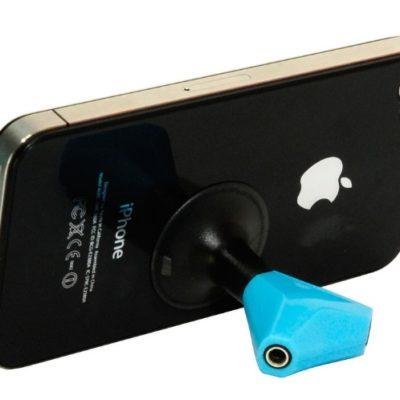 Soporte móvil con salida para auriculares