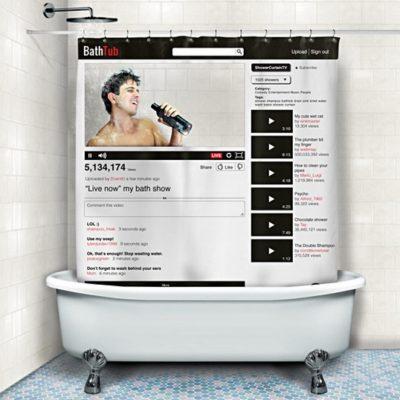 Cortina de ducha YouTube Bathtub