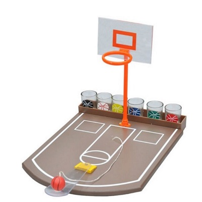 Juego de beber canasta de baloncesto