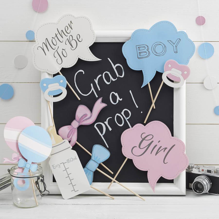 accesorios photocall fiestas prenatal