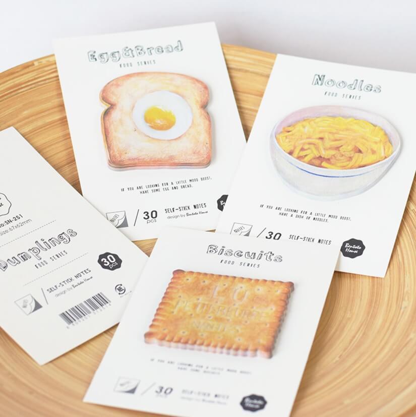 notas adhesivas desayunos