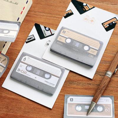 notas adhesivas cassette