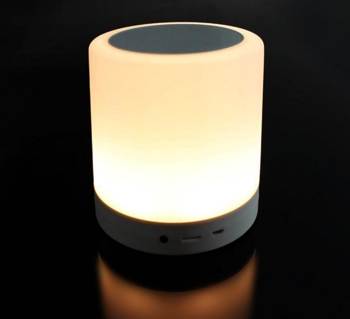 altavoz bluetooth con luz led